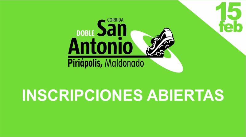 DOBLE SAN ANTONIO, inscripciones abiertas!