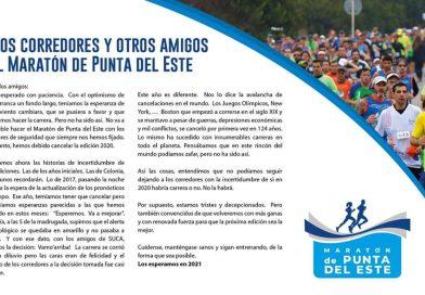 Maratón Internacional de Punta del Este, cancelado