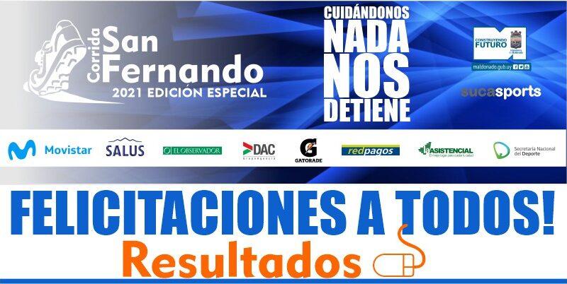 Resultados CORRIDA DE SAN FERNANDO